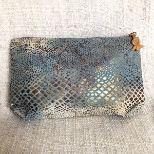 Nordstrom Sisley Reptile Cosmetic Pouch